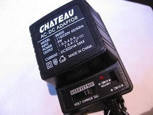 Multi-Voltage Universal Plug Wall Adaptor Chateau BB500 1.5-12V West Island Greater Montréal image 3