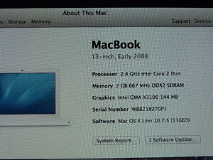 EARLY 2008 MACBOOK 13 INCH