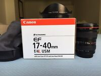Canon 17 - 40 mm L lens IMMACULATE Ultrawide Zoom