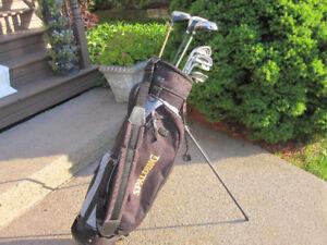 Men's Left Hand 10-pc Golf Clubs Set (Various) & Golf Stand Bag