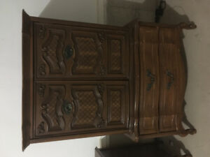 Antique bedroom furniture Had it professionally priced Open to s