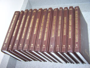 13 LOUIS L' ARMOUR western Brown leatherette hardcover books