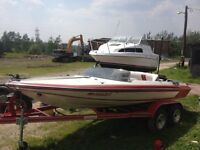 Speed boat modified glastron classic restored/ bayliner cruiser