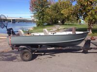 12' aluminum with 9.9 merc and trailer