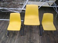 Vintage molded plastic chairs - Temple Texas