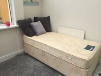 Single bed & mattress, great condition
