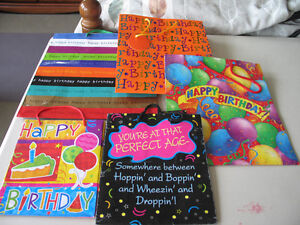 5 Birthday themed Gift bags