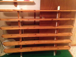 Large wall shelf unit