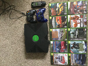 X Box console with 10 games