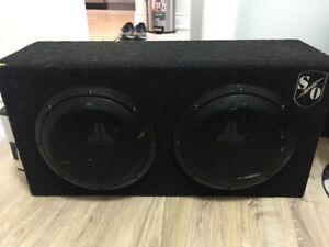 Car 2 x Subwoofer and Amp- JL Audio set -Used- high quality
