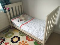 Cot bed with mattress - White Company (new £500)