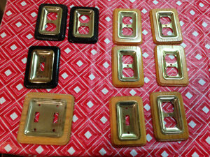 Switch and Outlet covers in Oak with brass Kitchener / Waterloo Kitchener Area image 1