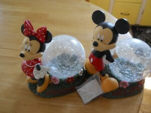 Outdoor Solar Mickey and Minnie Lights