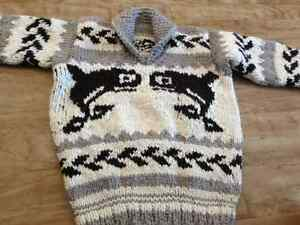 Authentic cowichan knitting