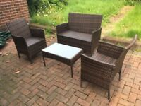 Bargain - 4 piece Rattan Garden Chairs and Table
