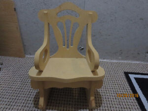 CHILDSWOOD ROCKING CHAIR - ASKING $25.00