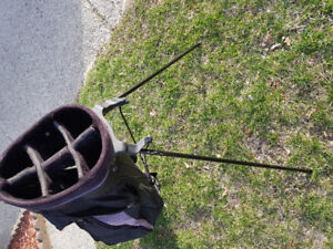 Golf bag with stand. $50