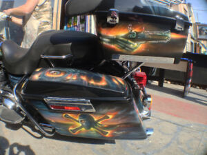 Custom Airbrush Art by Douglas Van Asssletine on Any Surface