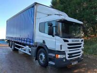 2015 Scania P320 Euro 6 6x2 sleeper cab, 30ft curtainsider underslung tail-lift