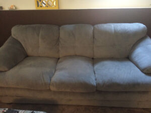 Grey couch and loveseat
