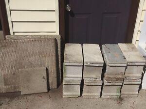 Patio Stones and Cinder Blocks