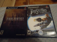 Final Fantasy Collector et Time Splitters future perfect ps2