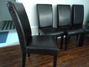 Dark brown dining chairs (set of 4)