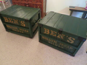 Ben's Holsum Bread train shipping crates