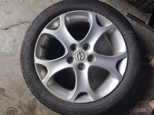 4 Tires and rims 205/50 R17  Nokians off of a mazda 5