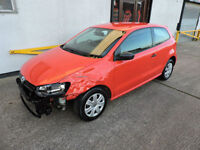 62 Volkswagen Polo 1.2 S Damaged Salvage Repairable Cat D