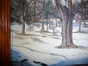 "Original Oil Painting ""Winter's Day By The Stream"" Stratford Kitchener Area image 9"
