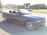 2006 06 BMW 330Ci 3.0 M Sport Auto Petrol convertible Grey Metallic,Genuine 119k