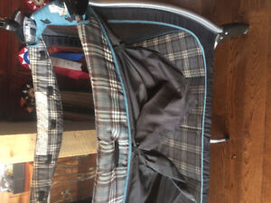 Eddie Bauer Playpen with bassinet and puppy mobile