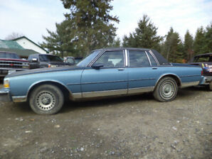 1989 Chevy Brougham great for rebuilding or enduro car
