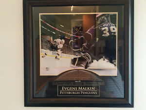 "#71 EVGENI MALKIN Penguins de Pittsburgh 16""x20"" West Island Greater Montréal image 1"