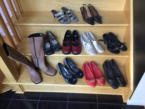 Lot of 12 pairs Shoes Boots Sandles fir $20