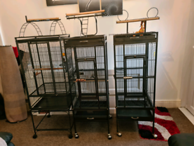 3 parrot cages for sale