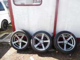 CADES APOLLO CONCAVE ALLOYS 19 INC 5X120 3 ALLOYS STAGGERED
