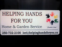 Helping Hands For You - Home and Garden Services
