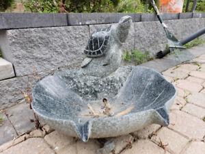 Granite fountain statue