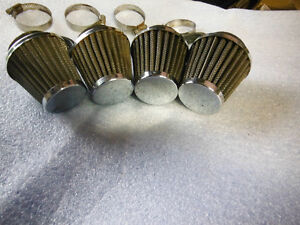 Four 47 mm Pod AIR FILTERS with reducers to 40 mm