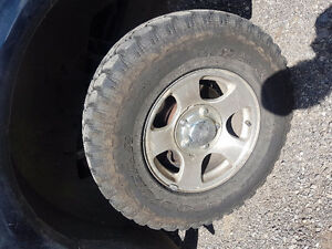 1997-2003 f150 rims with set of mud terrains and studded winters