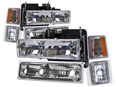 94 95 96 97 98 Chevrolet Suburban Silverado Euro Headlamps Headlights-2500 3500