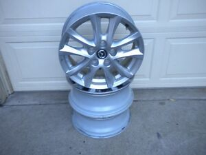 "FOUR 2015 MAZDA 16"" FACTORY ALLOY RIMS $125 PLEASE CALL London Ontario image 1"