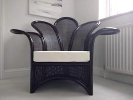 Large rattan armchair.