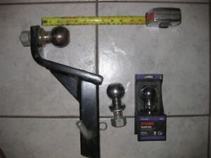 Trailer towing ball mount and balls