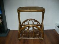 Wicker magazine rack/end table