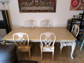 Malaysian Light Wood Dinning Table With 6chairs