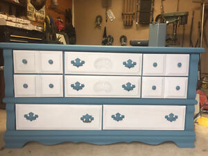 Beautiful Blue and Grey Dresser