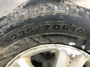 5 bolt ford  rims and winter tires
